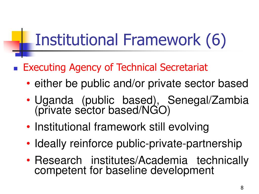 Institutional Framework (6)
