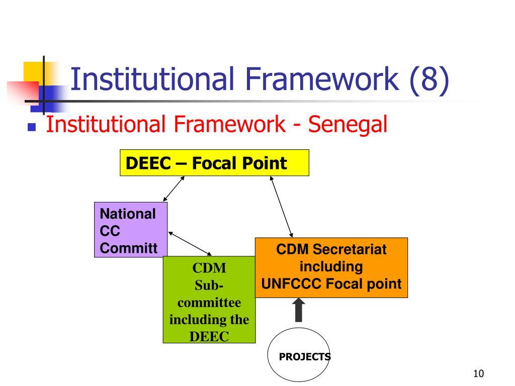 Institutional Framework (8)