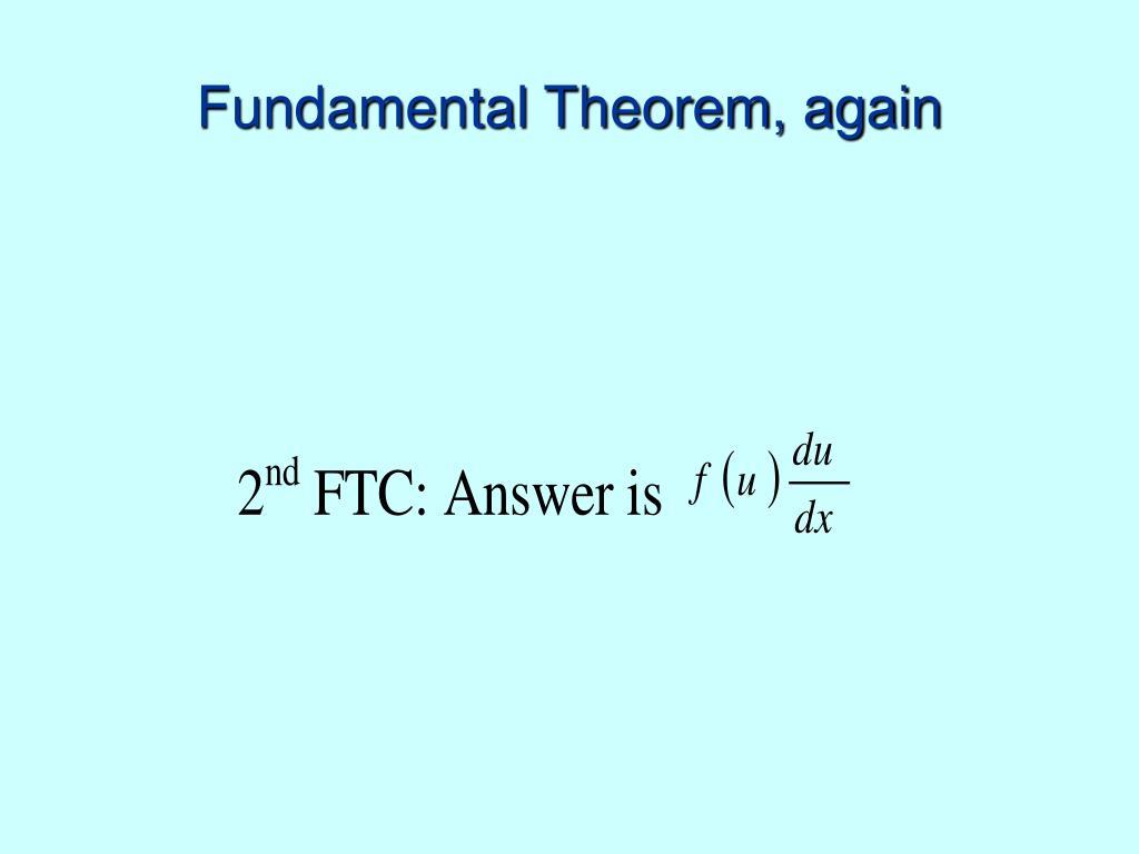 Fundamental Theorem, again