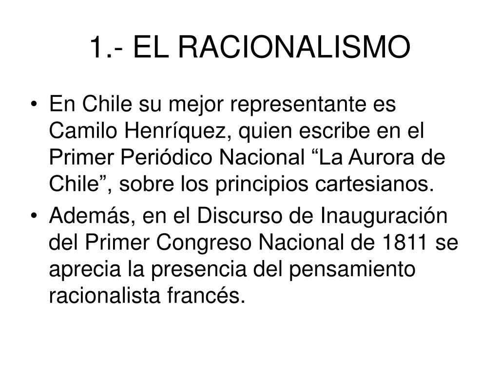 1.- EL RACIONALISMO