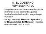 5 el gobierno representativo