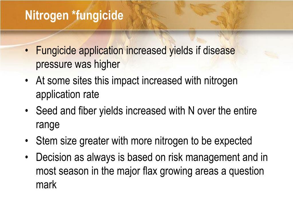 Nitrogen *fungicide