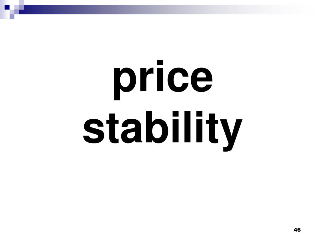 price stability
