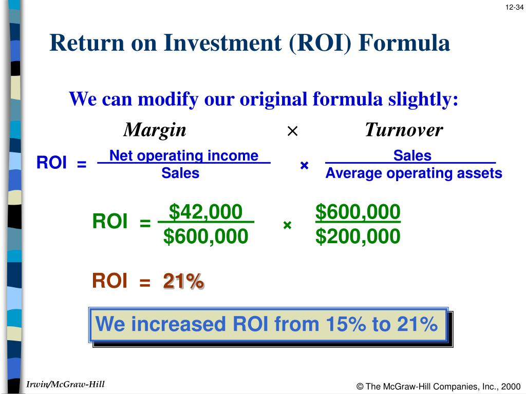 operating income return on investment What is 'return on investment (roi)' return on investment (roi) is a performance measure, used to evaluate the efficiency of an investment or compare the efficiency of a number of different .