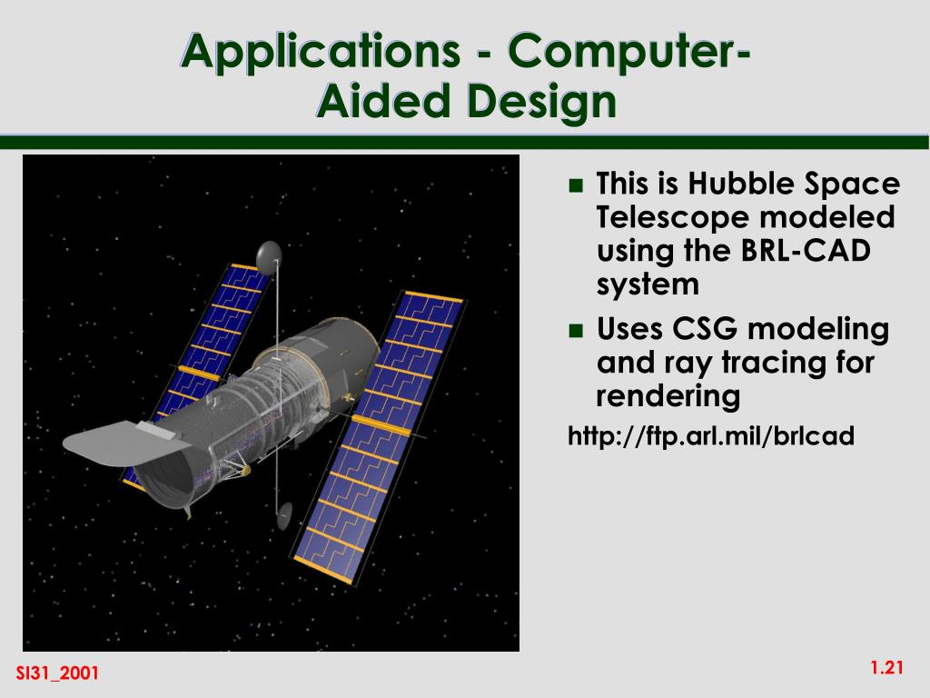 This is Hubble Space Telescope modeled using the BRL-CAD system