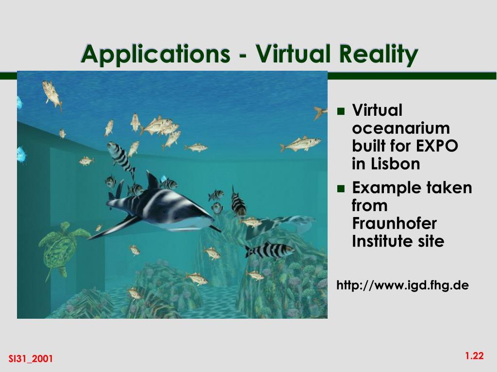 Virtual oceanarium built for EXPO in Lisbon