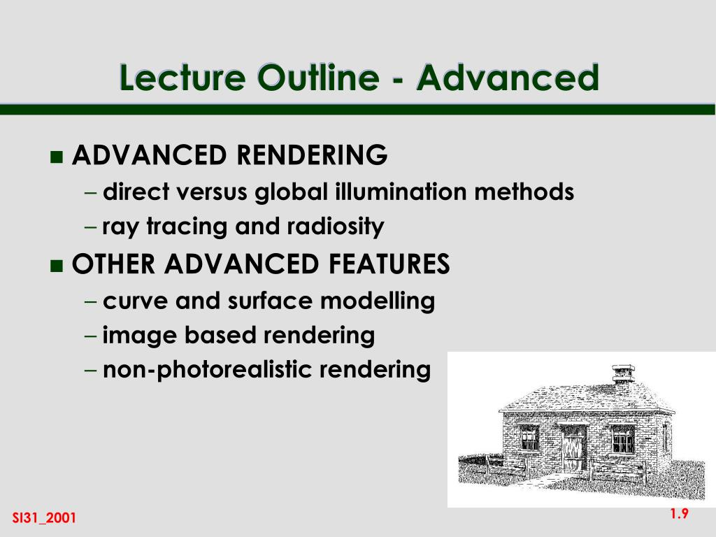 Lecture Outline - Advanced