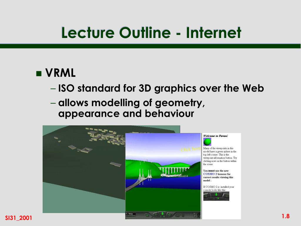 Lecture Outline - Internet