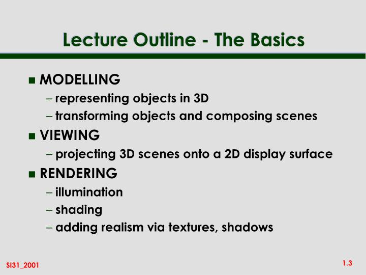 Lecture outline the basics l.jpg