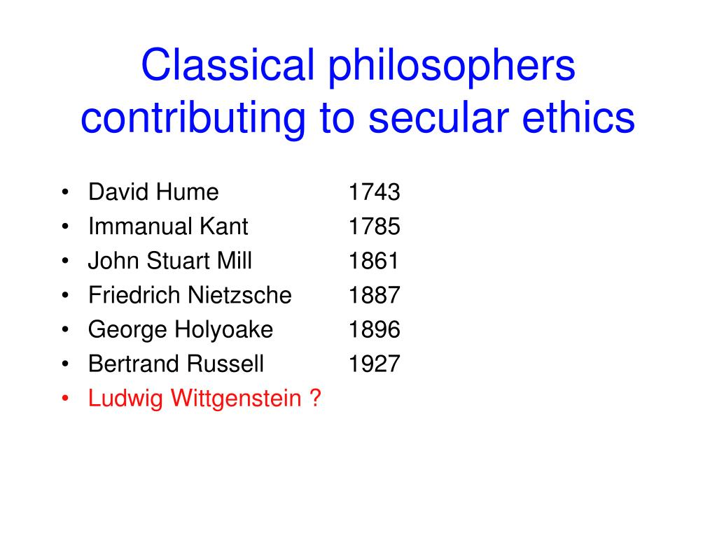 Classical philosophers