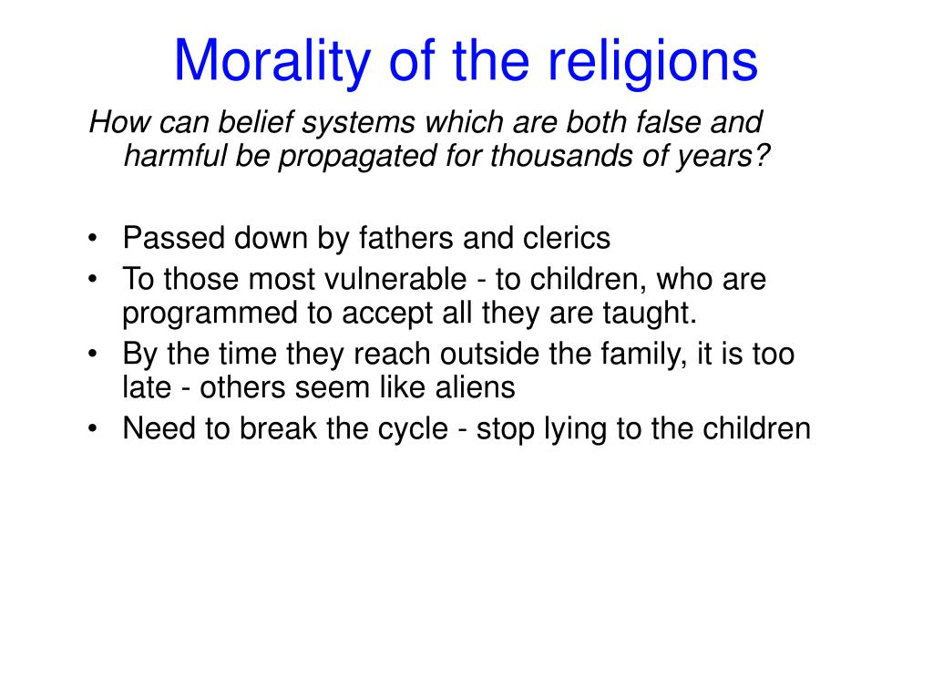 Morality of the religions