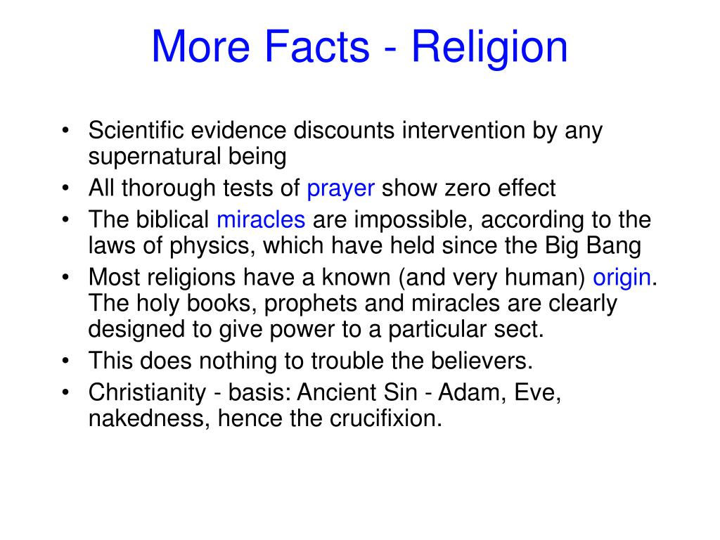 More Facts - Religion