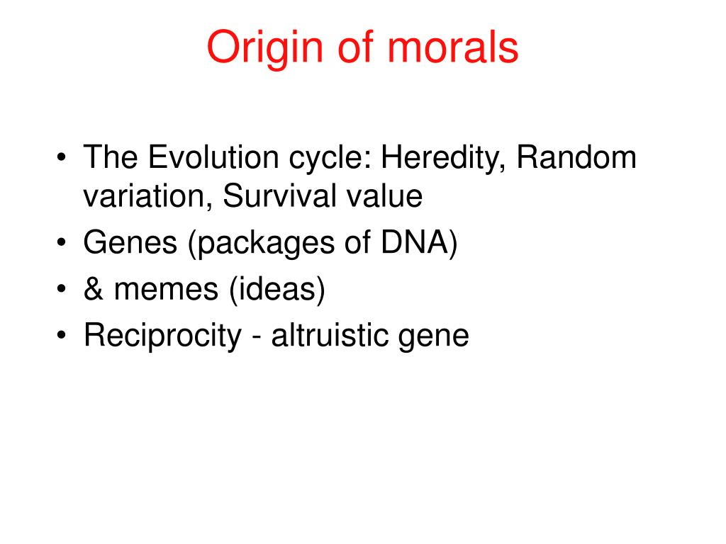 Origin of morals
