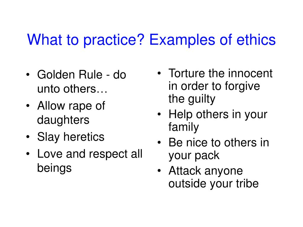 Golden Rule - do unto others…
