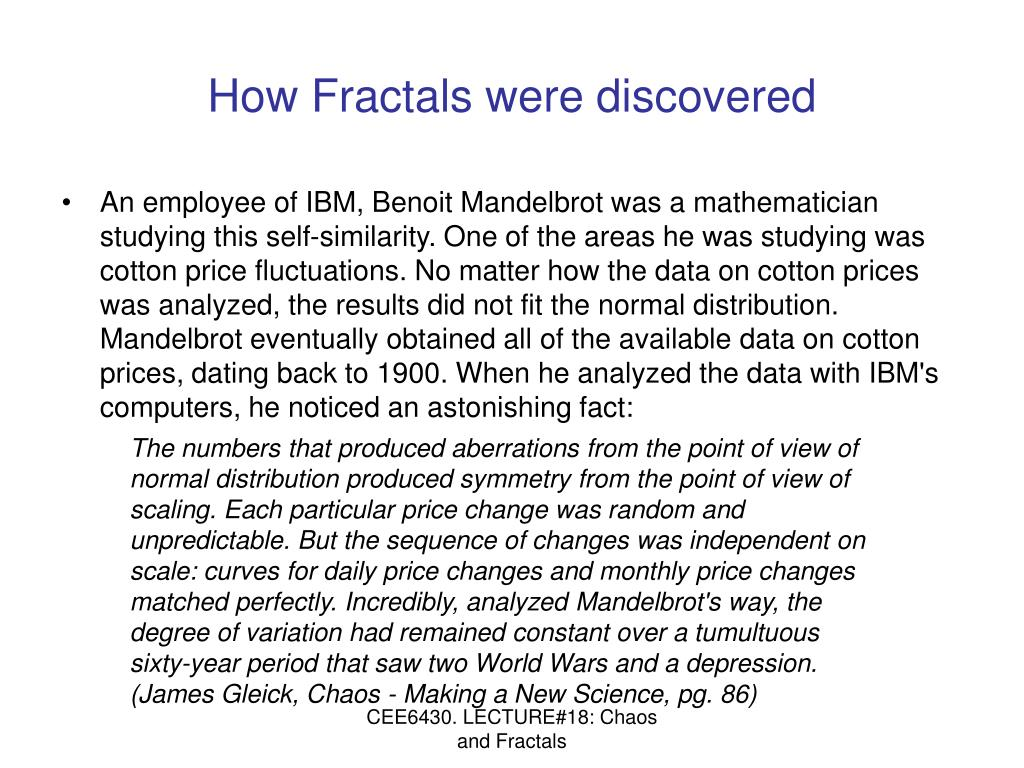 How Fractals were discovered