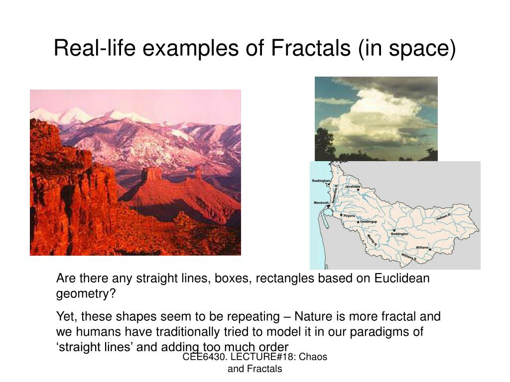 Real-life examples of Fractals (in space)