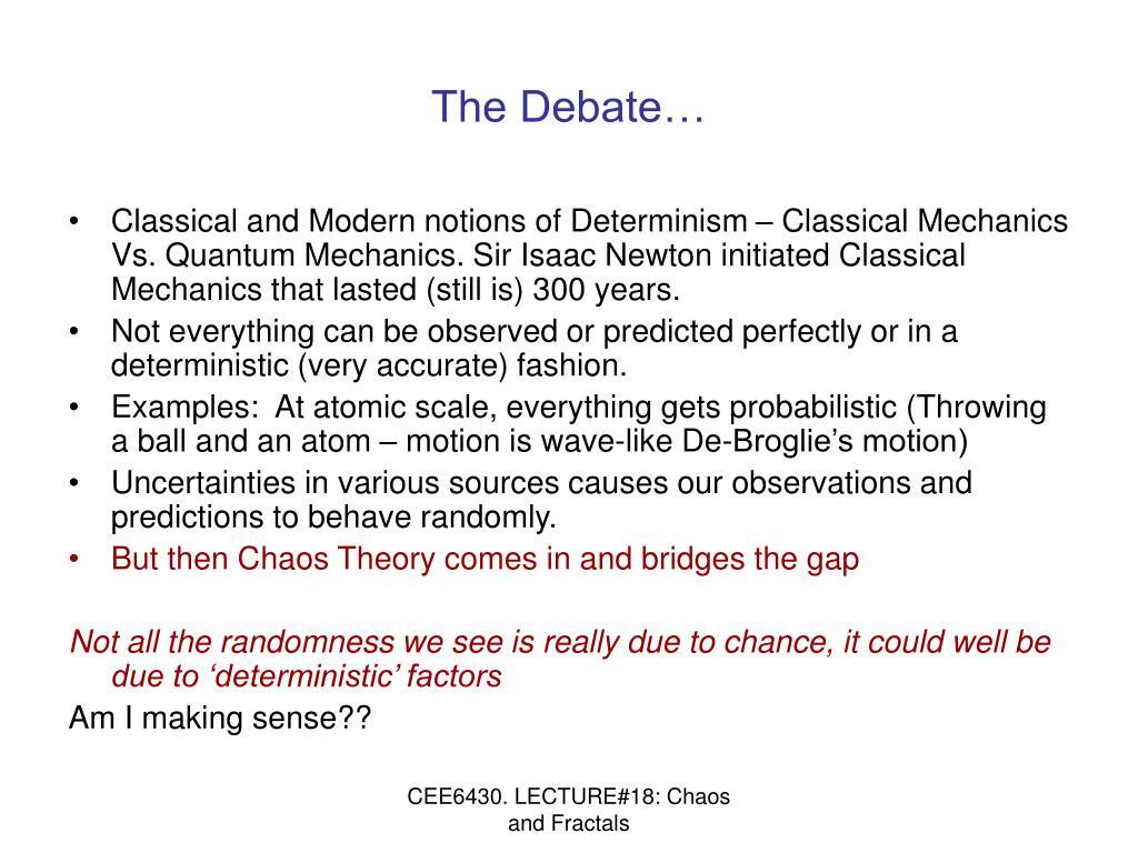 The Debate…