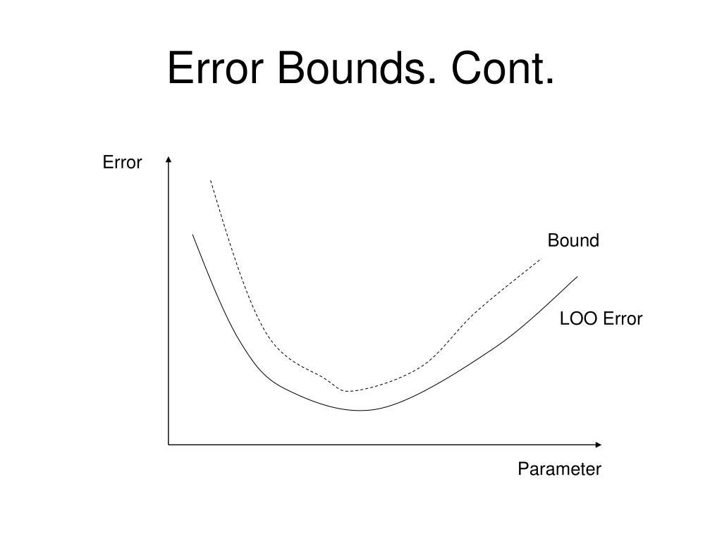 Error Bounds. Cont.
