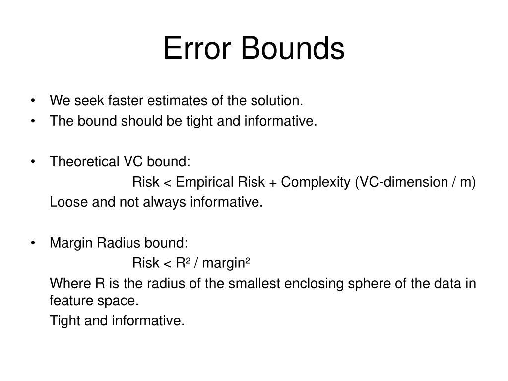 Error Bounds