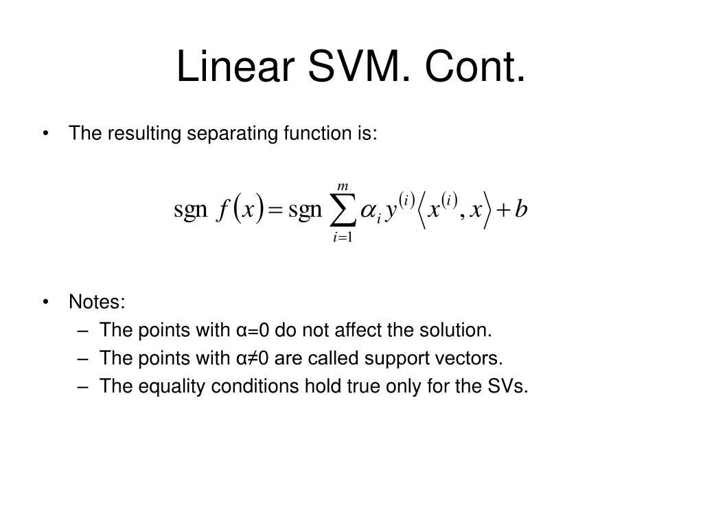 Linear SVM. Cont.
