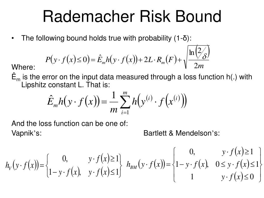 Rademacher Risk Bound