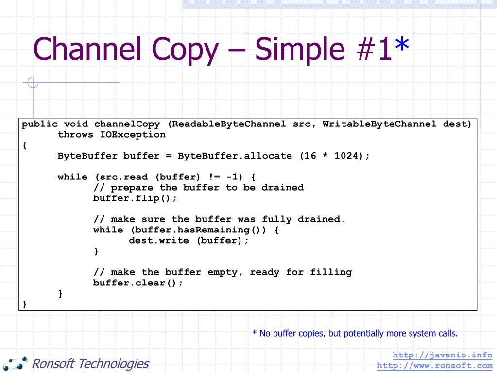 Channel Copy – Simple #1