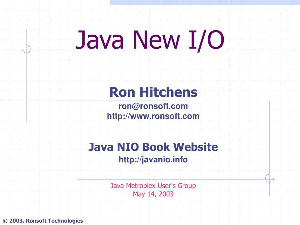 Java New I/O
