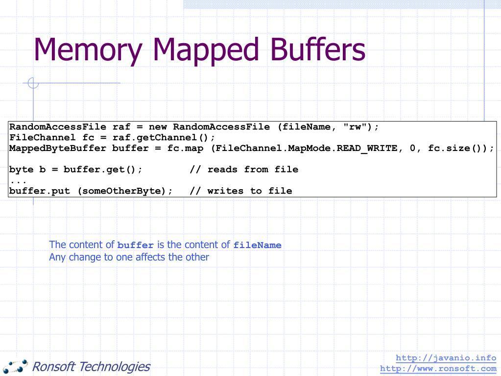Memory Mapped Buffers