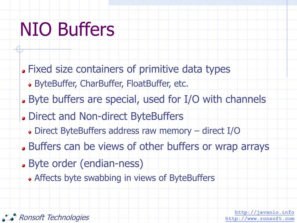 NIO Buffers
