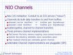 nio channels
