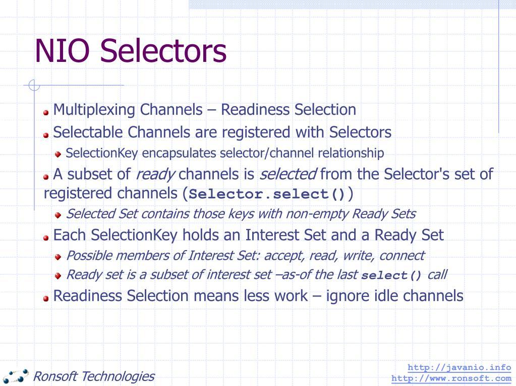 NIO Selectors