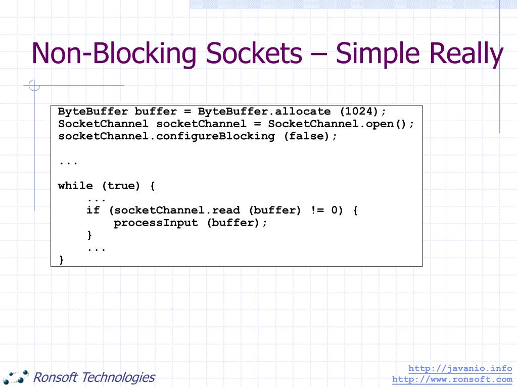 Non-Blocking Sockets – Simple Really