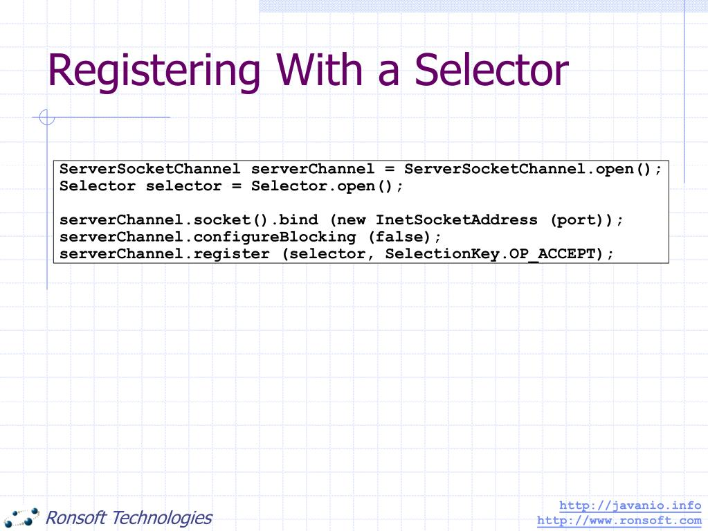 Registering With a Selector