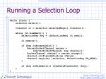 running a selection loop