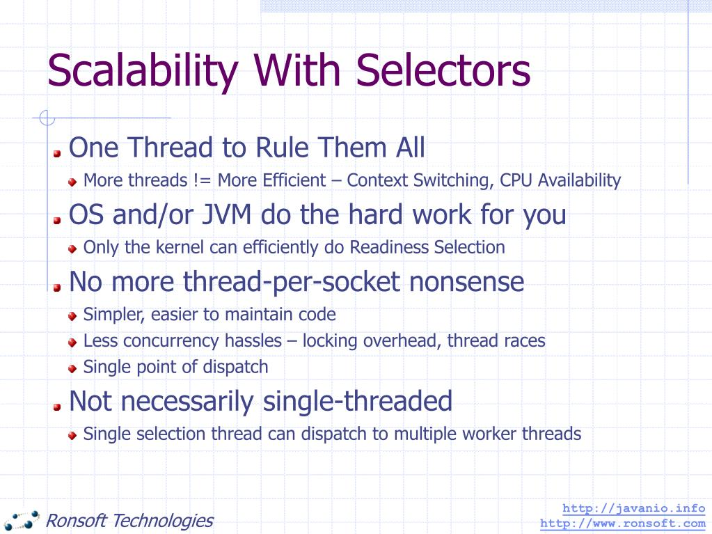 Scalability With Selectors