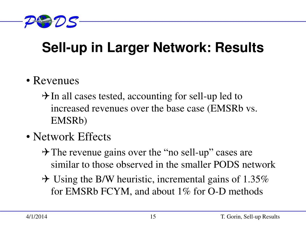 Sell-up in Larger Network: Results