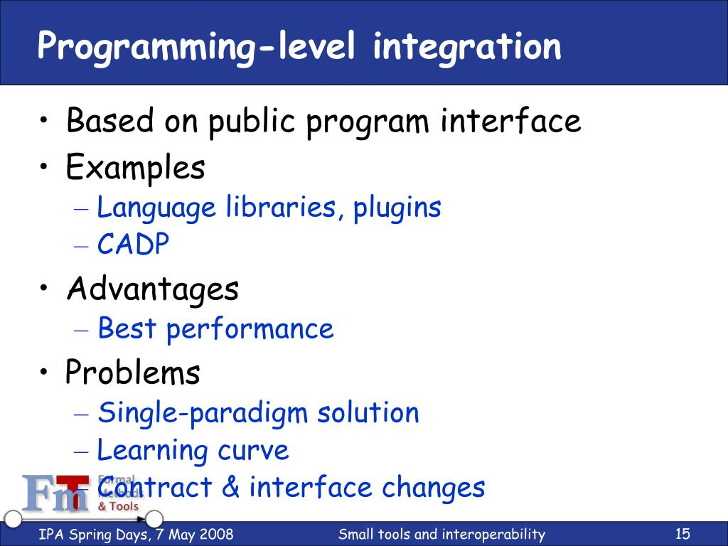 Programming-level integration