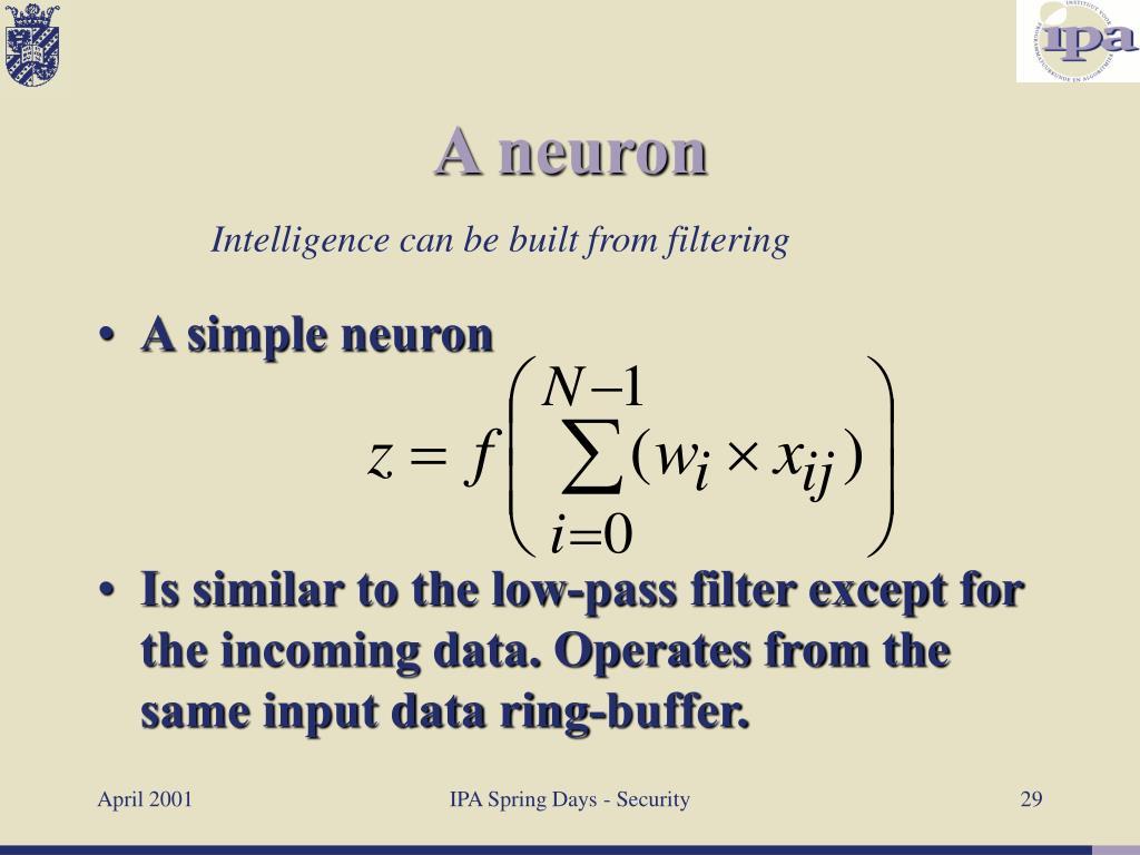 A simple neuron