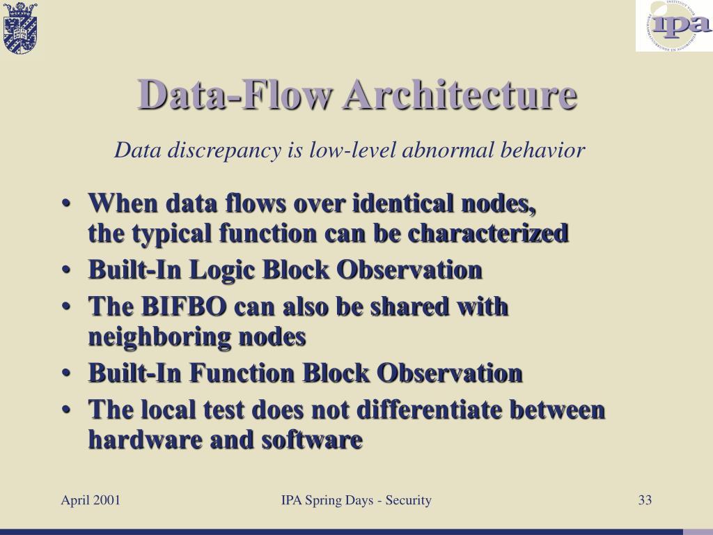 When data flows over identical nodes,