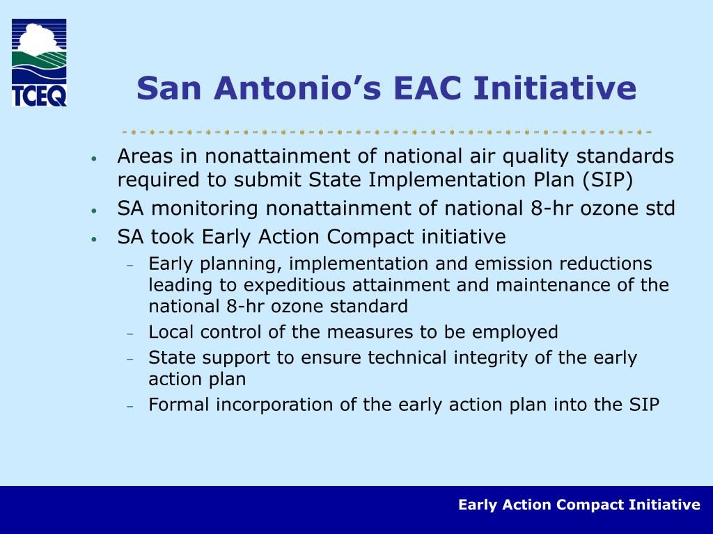 San Antonio's EAC Initiative