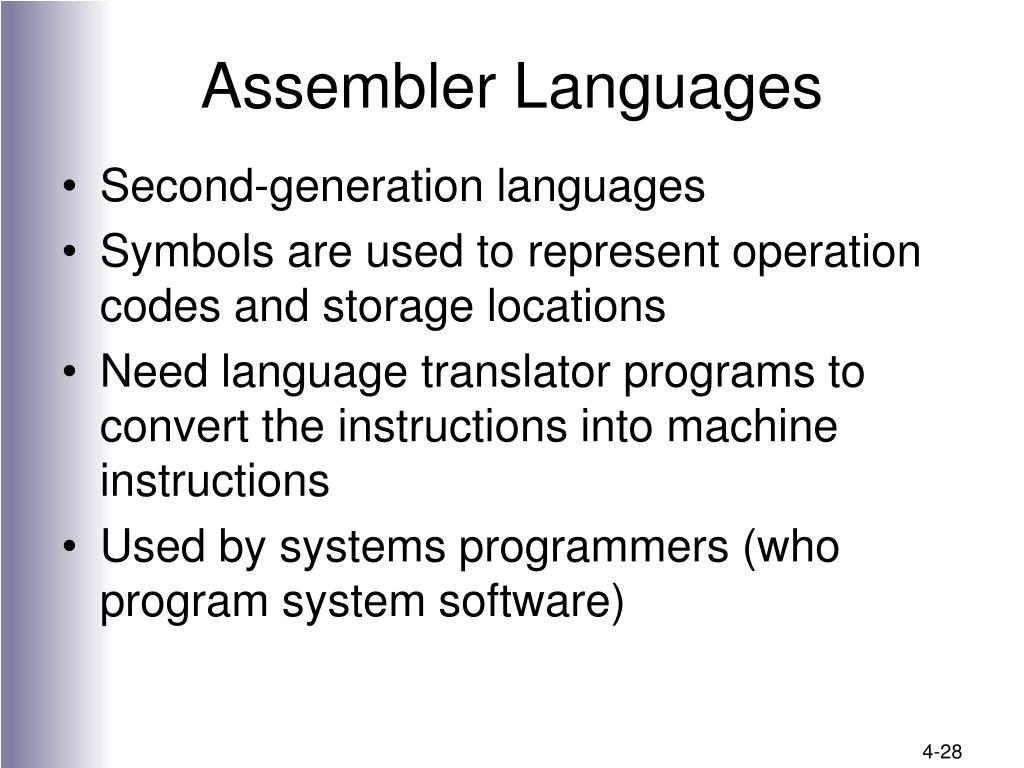 Assembler Languages