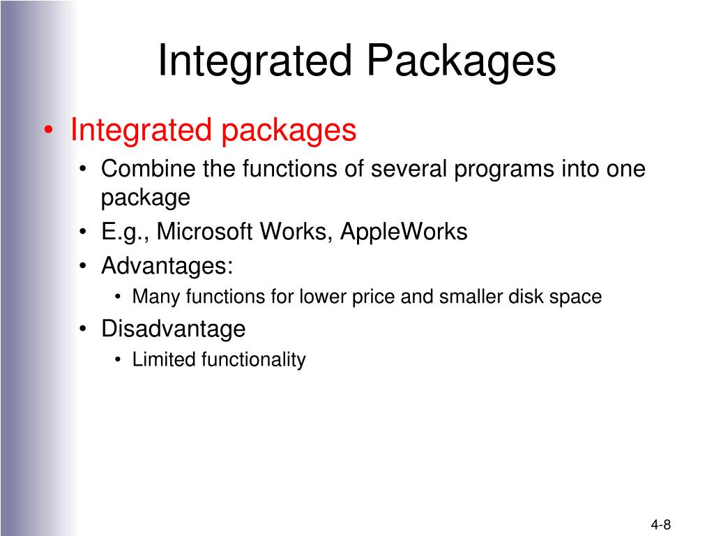 Integrated Packages