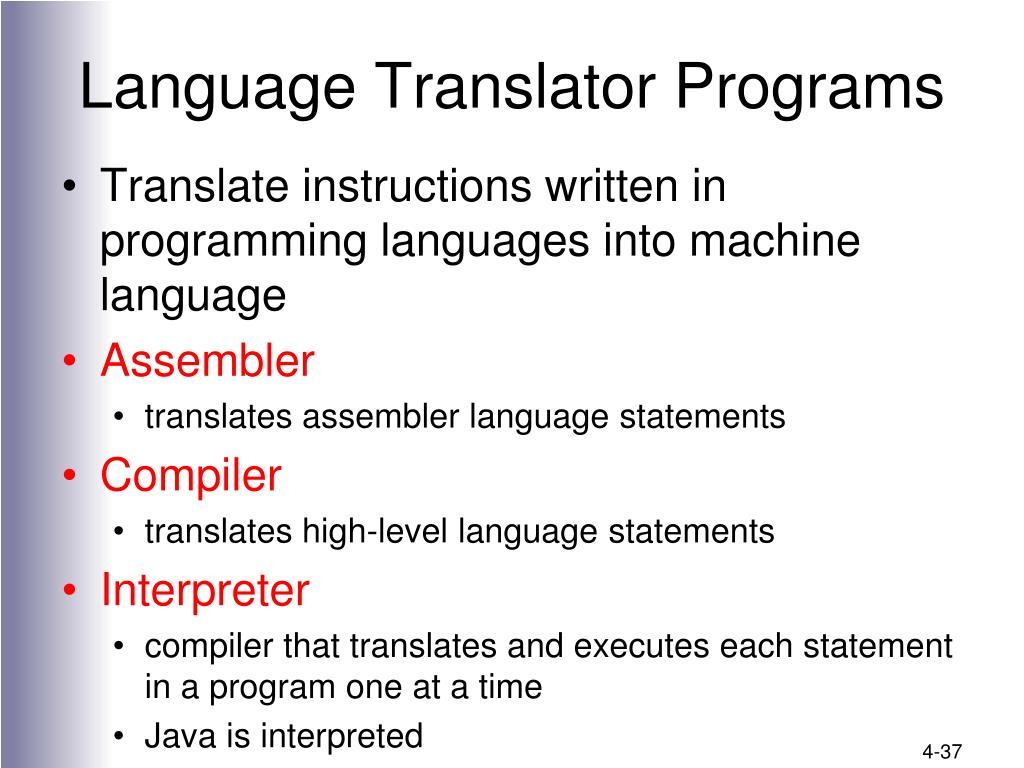 Language Translator Programs