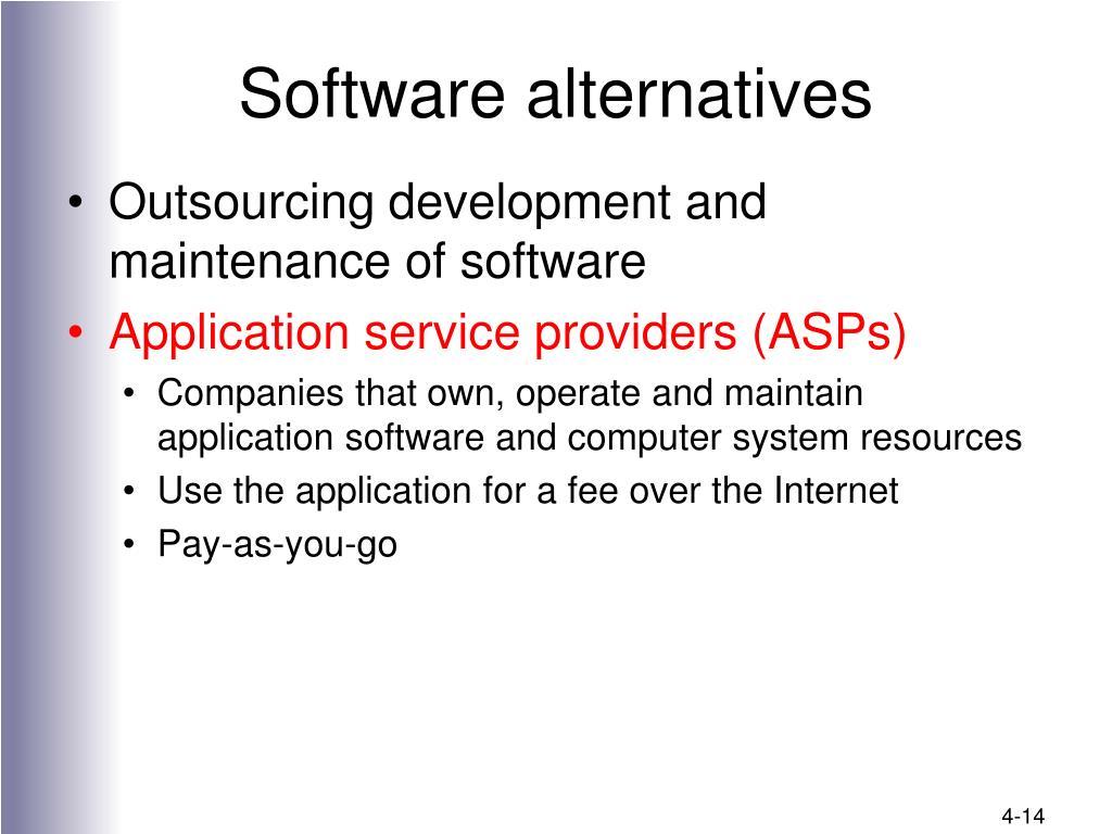 Software alternatives
