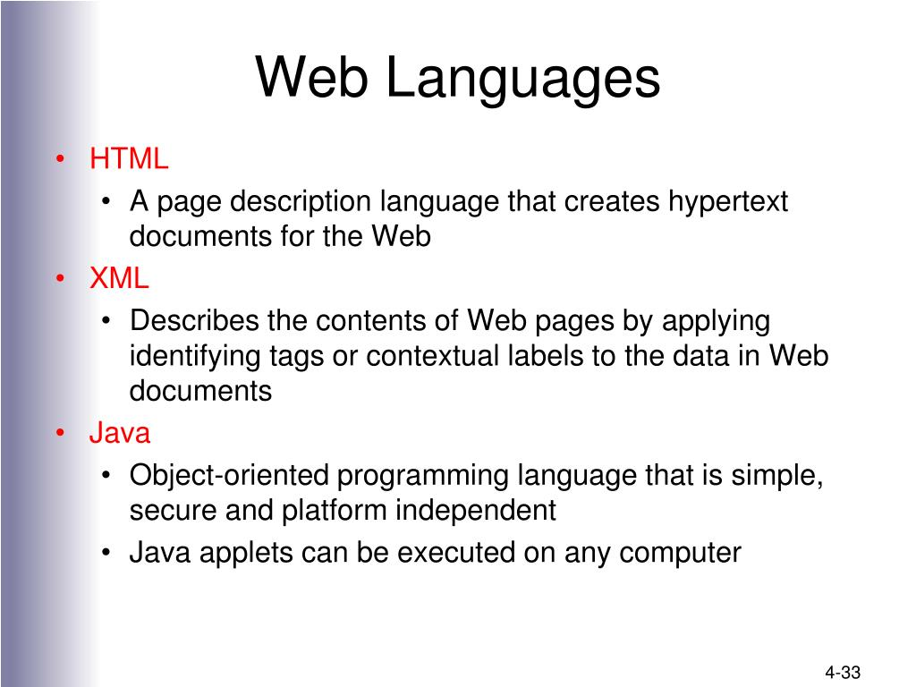 Web Languages