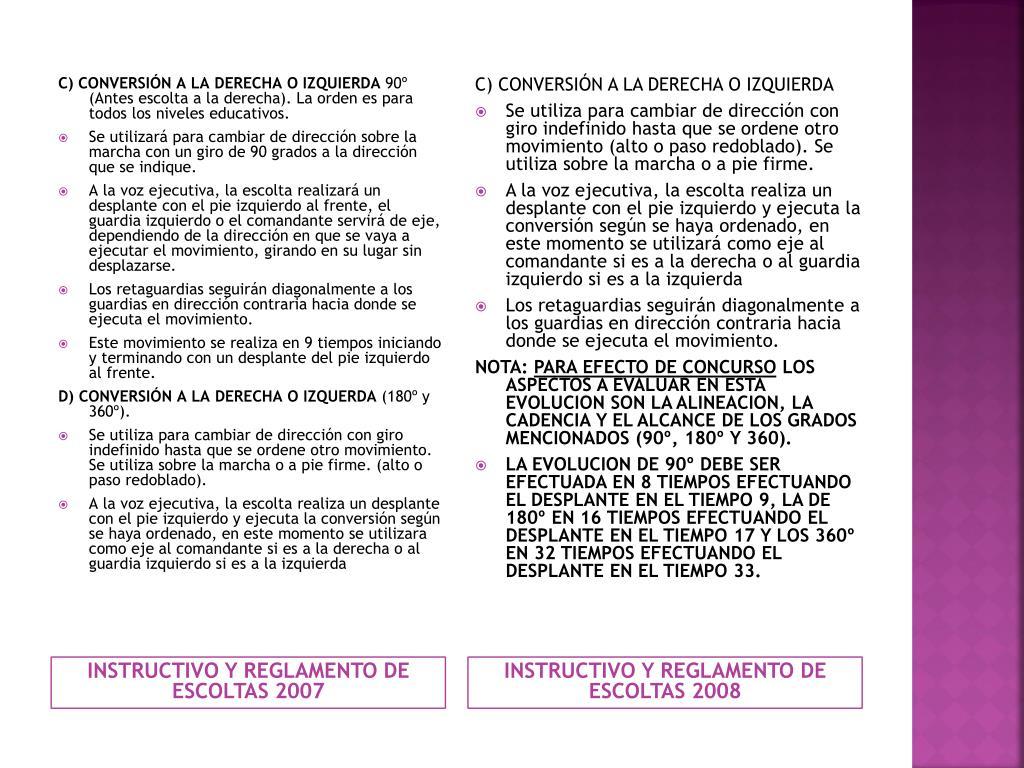 C) CONVERSIÓN A LA DERECHA O IZQUIERDA