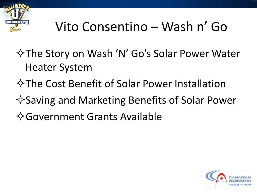 Vito Consentino – Wash n' Go