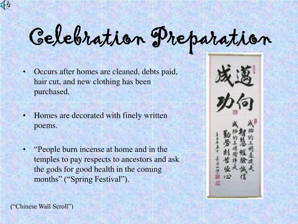 Celebration Preparation