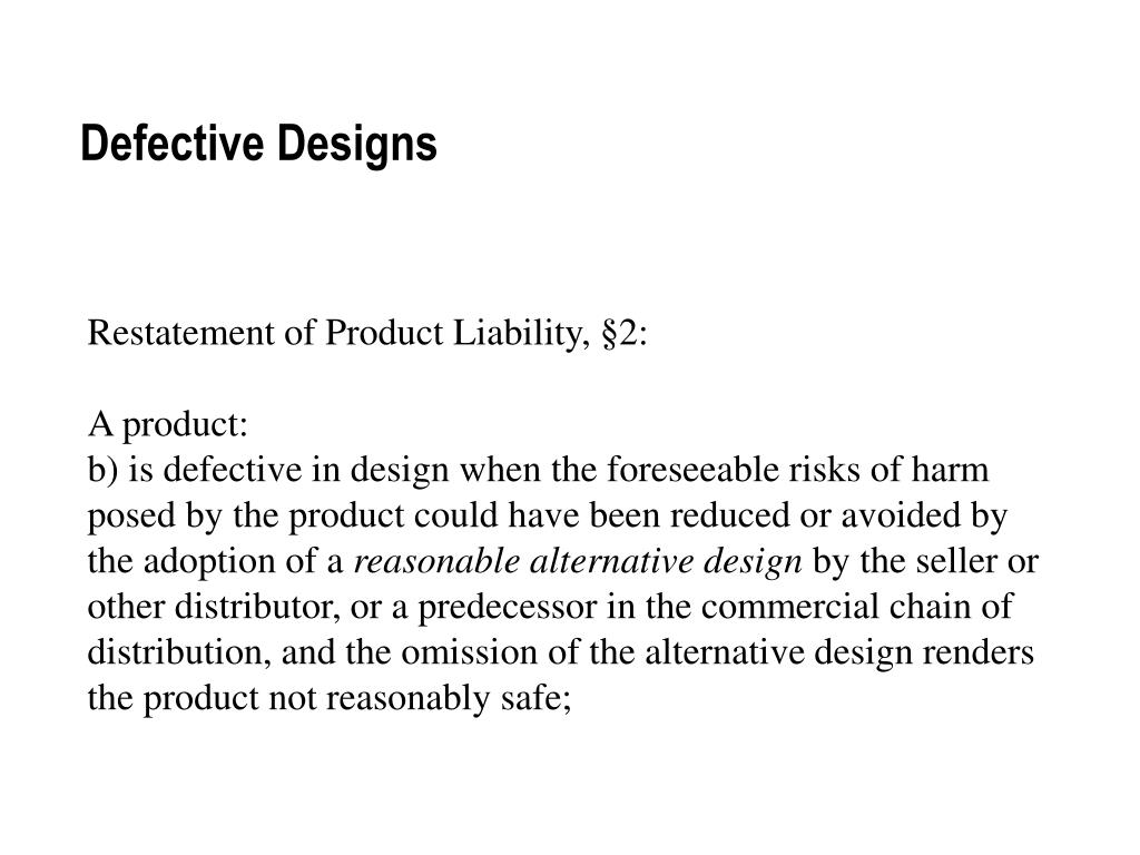 Defective Designs