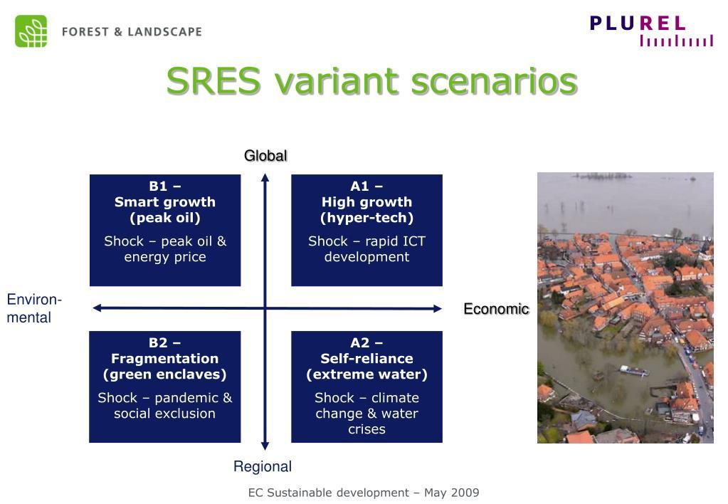 SRES variant scenarios